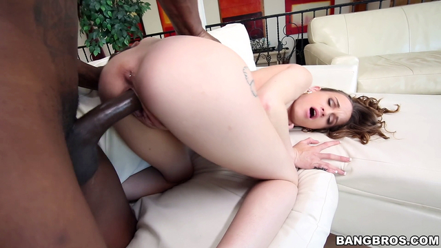 Submissive babe blacked by her tall stepbrother in XXX doggystyle
