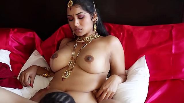 Fresh and beautiful Indian babe Maya Rati in pink saree stripteases